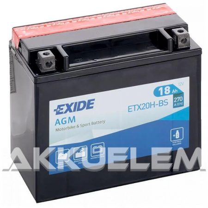 Exide ETX20H-BS 12V 18Ah 270A motorkerékpár akkumulátor zárt r., BAL+