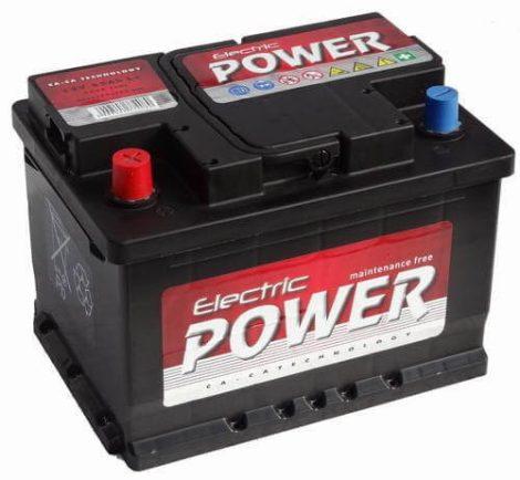 Electric Power 12V 55Ah 420A BAL+ autó akkumulátor (+AJÁNDÉK!)