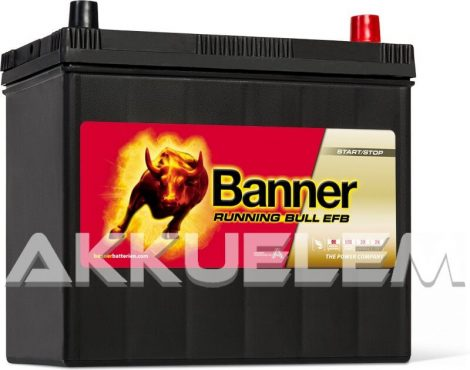 Banner Running Bull 55515 EFB 12V 460A 55Ah autó akkumulátor ASIA JOBB+