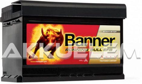 Banner Running Bull EFB 56512 12V 650A 65Ah autó akkumulátor ASIA JOBB+