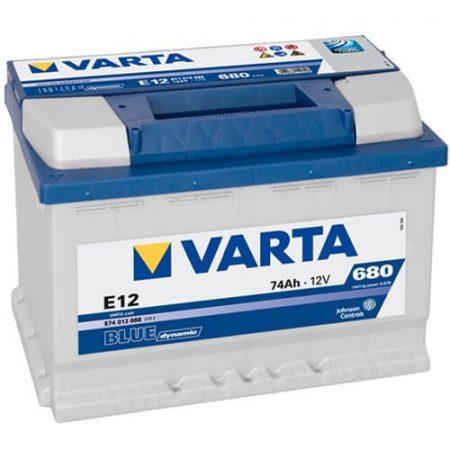 Varta Blue Dinamic 12V 74Ah 680A 574013 autó akkumulátor bal+