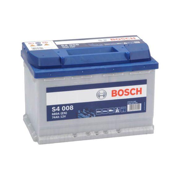 Bosch S4 12V 74Ah 680A autó akku JOBB+