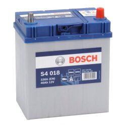 Bosch S4 12V 40Ah 330A Asia autó akku JOBB+ vékony