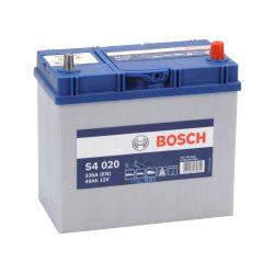 Bosch S4 12V 45Ah 330A Asia autó akku JOBB+ vékony