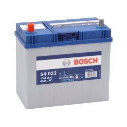 Bosch S4 12V 45Ah 330A Asia autó akku BAL+ vékony