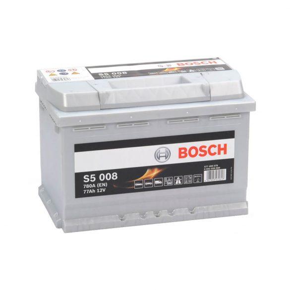 Bosch S5 12V 77Ah 780A autó akku JOBB+ 278175190MM
