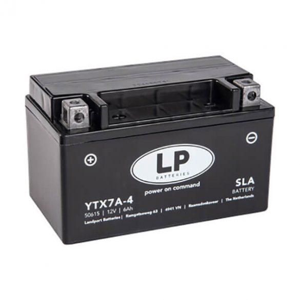 LP MKP akku 12V 6Ah 105A YTX7A-4 50615 1508095mm B+ GyZ Landport