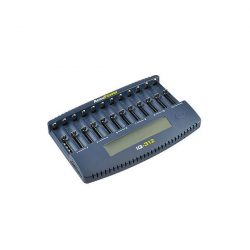 AccuPower LCD gyorst. IQ312 12 ágyas Li-ionNi-MHNi-CD akkutöltő