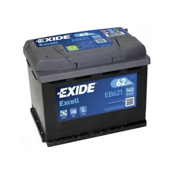 EXIDE Excell EB621 62Ah 540A  242x175x190mm akku BAL+