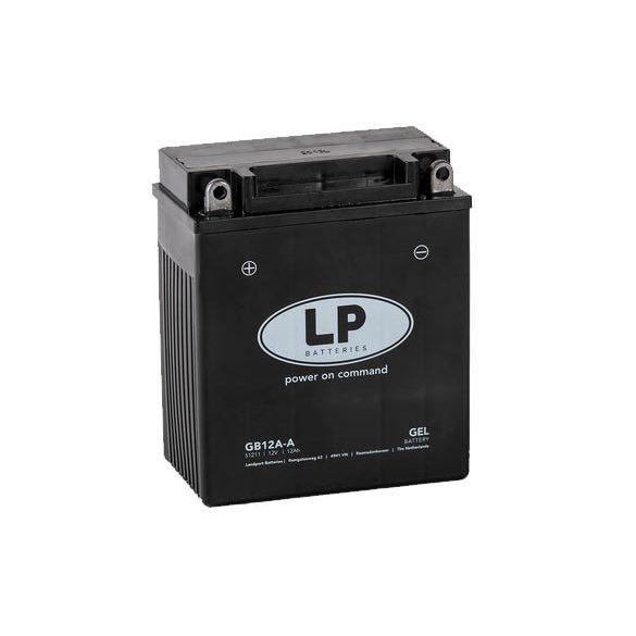 Landport 12V 12Ah 120A GB12A-A motorkerékpár akkumulátor AGM bal+